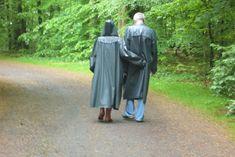 walk in the forest Rain Wear, Raincoat, Women Wear, How To Wear, Outdoor, Fashion, Black Raincoat, Cowl, Nice Asses