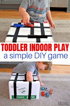 Drive and Drop - Toddler Game at Home — Days With Grey Car Activities, Activities For 2 Year Olds, Outdoor Activities For Kids, Toddler Activities, Preschool Chore Charts, Preschool Chores, Car Learning, Learning Games For Toddlers, Daily Schedule Kids