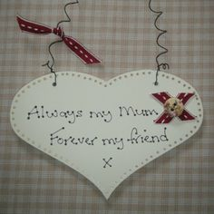 Beautiful Mum / Mummy / Mother / Mother's Day Shabby Chic Wooden Plaque Sign Keepsake Gift