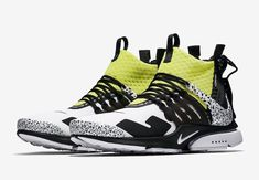 meet d6e89 fc81a eBay  Sponsored Acronym x Nike Air Presto Mid Racer White Dynamic  Yellow-Black SZ 8