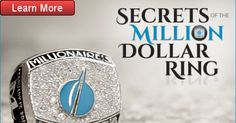 Million Dollar Ring, The Millions, Home Based Business, The Secret, Learning, Rings, Ring, Jewelry Rings, Teaching