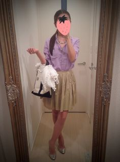 Tulle style skirt with Purple shirt - http://ameblo.jp/nyprtkifml