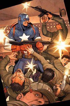 #Captain #America #Fan #Art. (Ultimate Comics. Captain America) By: Jason Aaron and Ron Garney. ÅWESOMENESS!!!™