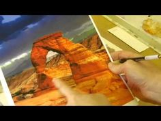 Painting a desert scene in watercolor 4 of 6 - YouTube