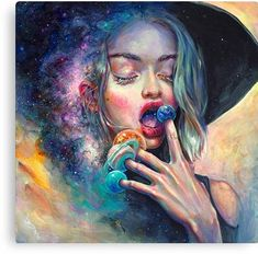 Tanya Shatseva - Schwarzes Loch in der Milchstraße Art And Illustration, Psy Art, Dope Art, Psychedelic Art, Milky Way, Oeuvre D'art, Art Inspo, Fantasy Art, Art Drawings