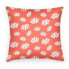 Orange Lotus Flower Pattern