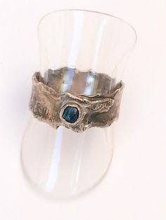 Handmade Ring Silver & Abalone Handcrafted by SimaGamlielJewelry