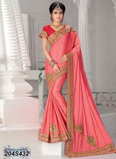 Fantastic Pink Coloured Silk Saree