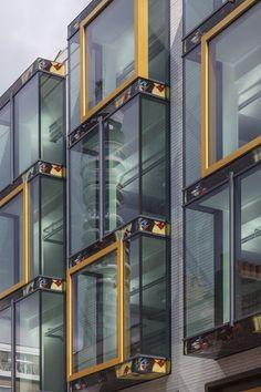 Whitfield Street, Fitzrovia, London - New Bay Windows, Art Print Spandrel Pannel, BT Tower Reflection, Pre-Raphaelite Painting, John Millais, Gold Picture Frame Facade