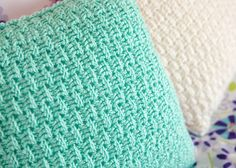 You will love making two sided throw pillow covers with this fun and free pillow cover crochet pattern. ~ she has a baby blanket that matches this - awesome! ~ fits x pillow form ~ FREE - CROCHET Crochet Pillow Cases, Crochet Pillow Patterns Free, Crochet Afghans, Crochet Cushions, Crochet Stitches Patterns, Baby Blanket Crochet, Crochet Baby, Free Pattern, Afghan Patterns