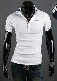 Short Sleeve Regular Casual Shirts for Men Slim Fit Polo Shirts, Casual Shirts, Mens Summer T Shirts, Embroidered Polo Shirts, Mens Clothing Styles, Hooded Sweatshirts, Men Casual, Mens Tops, Clothes