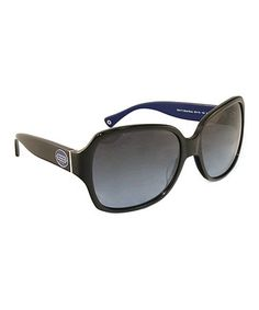 Take a look at this Coach Black & Blue Celebrity Sunglasses by Coach Sunglasses & Opticals on #zulily today!