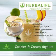 Cookies & Cream Yoghurt Shake #Herbalife