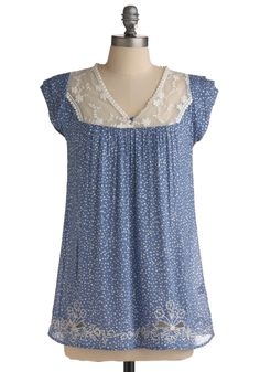 blue girly summer blouse - unfortunately it is unavailable - guess I'll have to make my own!
