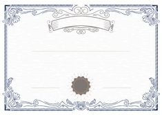 Blank Certificate Template, Certificate Border, Certificate Background, Certificate Of Achievement Template, Certificate Frames, Modele Word, Frame Floral, Page Borders Design, Certificate Of Appreciation