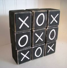 Tic Tac Toe Block Set... Fun For Play Room Or Game Room