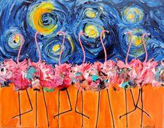 "Starry Night Dance by Lisa P. Young | $250 | 18""w 14""h | Original Art | https://www.arttwo50.com/buy/art/starry-night-dance"