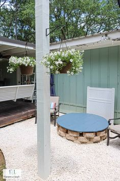 DIY gravel patio Patio Edging, Gravel Patio, Gravel Garden, Metal Edging, Outdoor Living Patios, Diy Outdoor Table, Outdoor Fire, Outdoor Decor, Yard Before And After