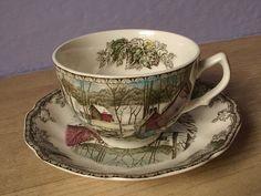 vintage English tea cup and saucer Johnson by ShoponSherman, $9.00