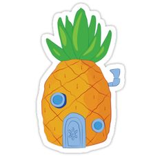 """Spongebob Pineapple"" Stickers by srucci Stickers Cool, Meme Stickers, Cartoon Stickers, Tumblr Stickers, Phone Stickers, Journal Stickers, Printable Stickers, Planner Stickers, 3d Zeichenstift"