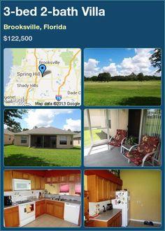 3-bed 2-bath Villa in Brooksville, Florida ►$122,500 #PropertyForSale #RealEstate #Florida http://florida-magic.com/properties/4438-villa-for-sale-in-brooksville-florida-with-3-bedroom-2-bathroom