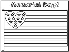 Memorial Day Coloring Page {FREEBIE}