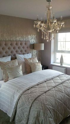 Trendy Home Decored Ideas Bedroom Couple Design Headboards 70 Ideas Taupe Bedroom, Neutral Bedrooms, Glam Bedroom, Trendy Bedroom, Luxurious Bedrooms, Home Bedroom, Bedroom Decor, Bedroom Ideas, Master Bedroom