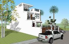 3 Storey w/ Roofdeck - House Designer and Builder Modern Minimalist, Minimalist Design, Construction Contract, Maids Room, Home Design Plans, House Architecture, Exterior Design, Future House, Beach House