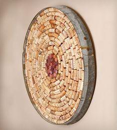 Wine cork dart board? PP: diy wall decor