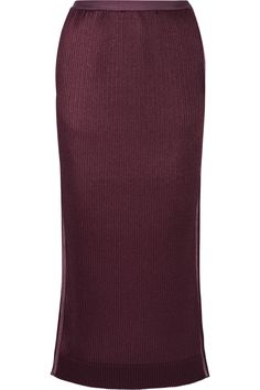 Barbara Casasola Pleated Crepe De Chine Midi Skirt In Burgundy Barbara Casasola, Fall Skirts, Brian Atwood, Victoria Beckham, Runway Fashion, Midi Skirt, Burgundy, Fabric, Style