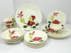 Your place to buy and sell all things handmade Glazed Pottery, Glazes For Pottery, Blue Ridge, Dinner Plates, Hand Painted, China, Tableware, Handmade, Stuff To Buy