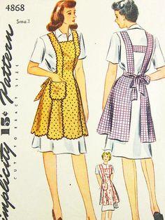 Vintage Apron Pattern  Simplicity 4868  Vtg by ThePatternSource, $30.00
