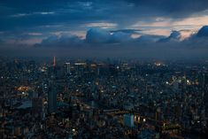 View of city at night from the Tokyo Skytree —Tom Bricker