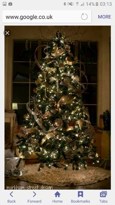 New Spirit With Rustic Christmas Decorating Ideas Beautiful Tree By Markham Street Design