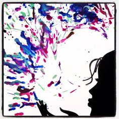 Easy to do crayon art Materials: Old crayons Cut out of a silhouette Glue White paper Blow dryer Step by Step Directions: 1. Peel off the wrappers from crayons 2. Hold the crayons over a piece of white paper 3. Use the blow dryer to melt the crayons by holding them directly over them until they begin to drip on the paper 4. Glue your silho