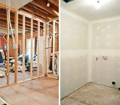 Drywall Taping, Mudding, & Sanding – Oh My! | Young House Love.  Great tips and photos, two videos, and links to other tutorials that inspired them.  And this is an example of why this is one of my favorite blogs - so useful!