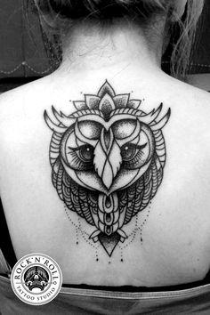 owl tattoo by Kasia Oskarbska