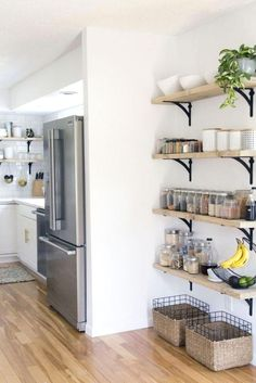 One of my favorite topics to share on my blog is design solutions for small spaces. It's been way too long since I've shared my ideas on how to maximize a small space. I was talking with a girlfriend of mine who recently bought a cute fixer-upper in Southern California about her kitchen. I was shari #DIY #kitchendiy