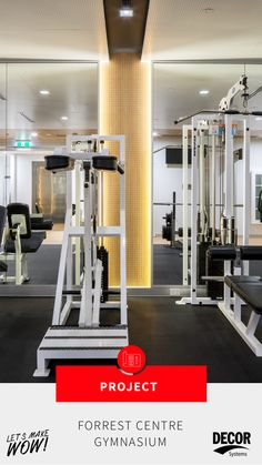 """""""A gym this beautiful is a double-edged sword: it motivates us to show up, but we just can't stop staring. 🤩nnClick through for more photos of Hames Sharley's Forrest Centre design! Timber Panelling, Gym Design, Acoustic Panels, Rubber Flooring, Sword, Centre, Modern Design, Designers, Design Inspiration"""