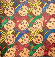 Tessellation by my student Tanya, grade 5 (Donna Staten)