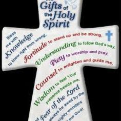 Gifts of the Holy Spirit: Knowledge, Fortitude, Understanding, Piety ...