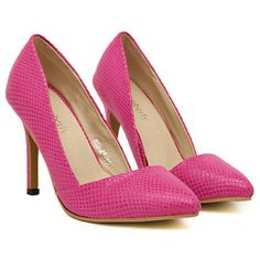 Rose PU Pointy Closed Toe Stiletto High Heel D'orsay Pumps  #ShopSimple