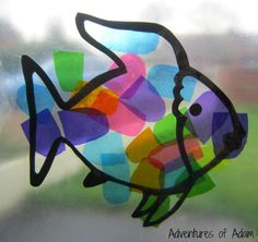 Rainbow Fish toddler craft