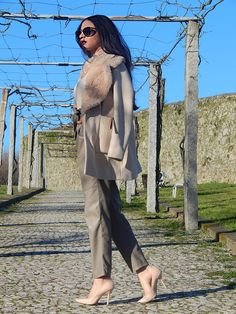 Yandra Vitorio  All nude everything Nude coat from Zara Nude leather pants from Zara Nude scarpins from Zara Top from Primark Ledeir Intl by Bev Patterson | Celebrity Hair Stylist | Nashville TN | Outfit Choice: All Nude Everything Kim Kardashian style