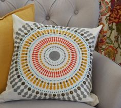 Cutting Edge Stencils shares how to create the perfect accent pillow to match your decor using the Funky Wheel Paint-A-Pillow kit. Stenciled Pillows, Accent Pillows, Throw Pillows, Cutting Edge Stencils, Perfect Pillow, Learn To Paint, Paint Brushes, Campaign, Diy Crafts