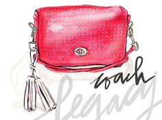 Handbag illustration of Coach Legacy Perforated Leather Penny bag