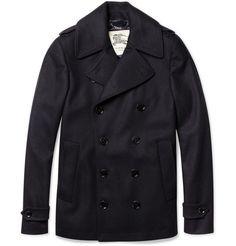 ddd69e1da5f Burberry London Slim-Fit Wool-Blend Peacoat | MR PORTER | Boyfriend Style,