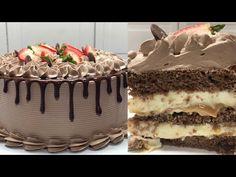 MAGNÍFICO RECHEIO DE 5 LEITES TRUFADO COM DOCE DE LEITE - YouTube Tiramisu, Cake, Ethnic Recipes, Maria Elisa, Desserts, Youtube, Food, Videos, Sweet Like Candy