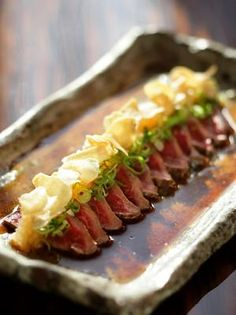 Beef Tataki at Nobu Restaurant. One of my favourite Japenese dishes.