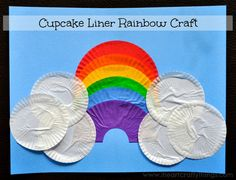 Cupcake Liner Rainbow - - pinned by @PediaStaff – Please Visit  ht.ly/63sNt for all our pediatric therapy pins